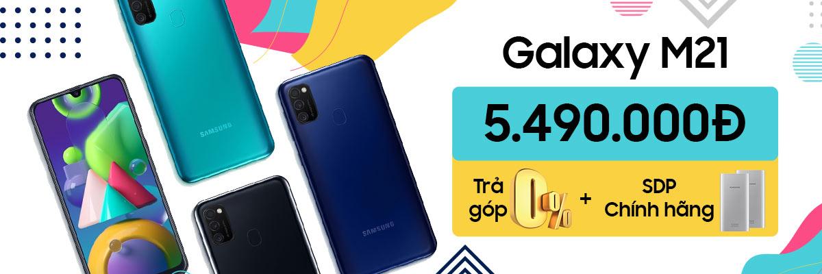 Samsung Galaxy M21 Siêu Pin Giá Siêu Ưu Đãi