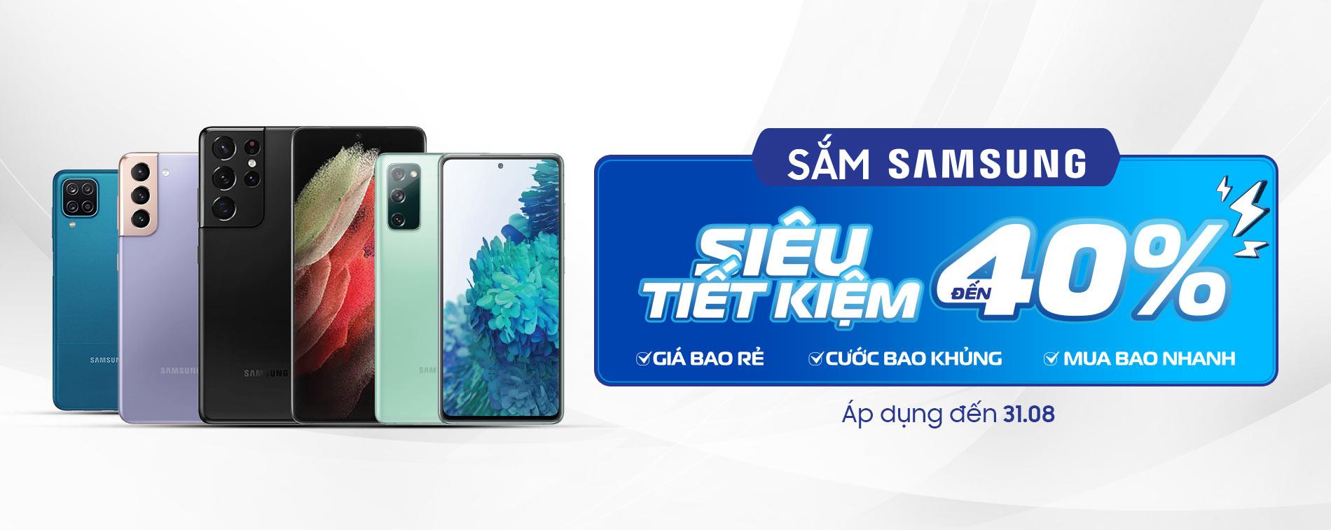 Mua Samsung siêu tiết kiệm đến 40%