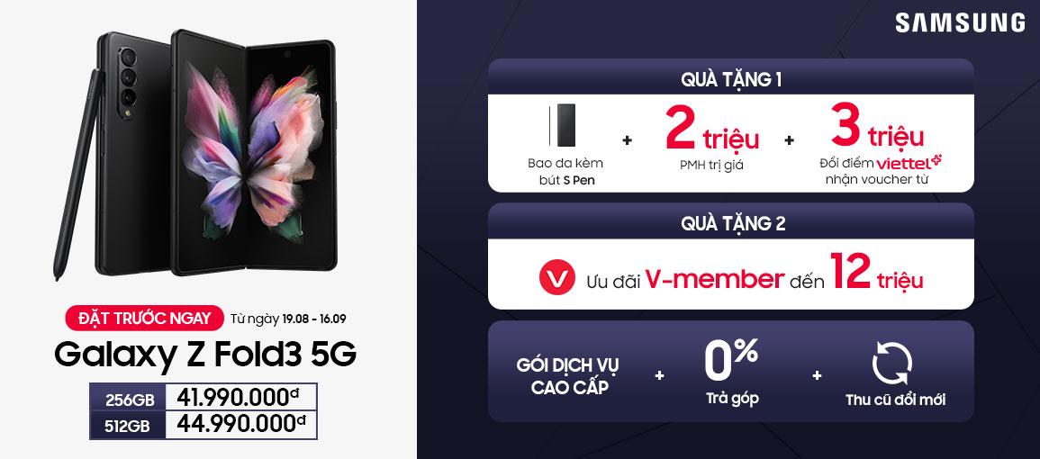 Mua Galaxy Z Fold3 5G chính hãng tại Viettel Store
